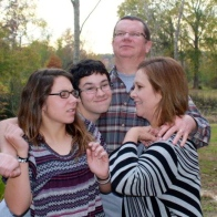 Goofing off, Thanksgiving 2012. I love these people!
