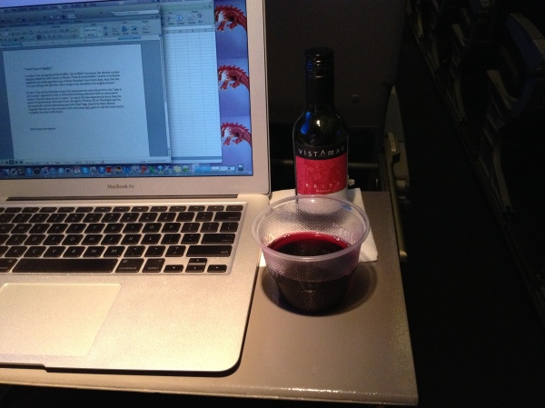 Blogging at 30,000 feet