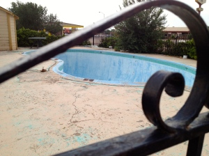The pool at the Royal Inn, Tucumcari, NM, July 6, 2013