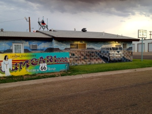 Mural on the side of Motel Safari, Tucumcari, NM, July 6, 2013