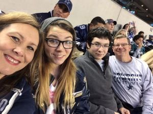 My family and me cheering for the Cowboys - 12.29.2013