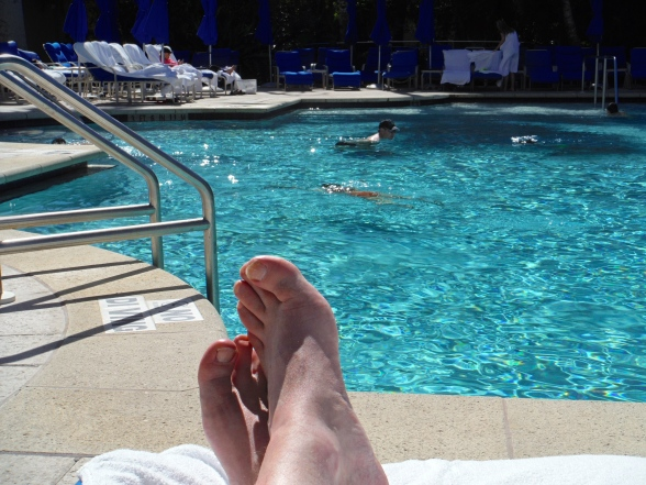 """The phenomenon of the """"relaxing feet"""" shot on social media seems a bit strange, but who am I to buck current trends?"""