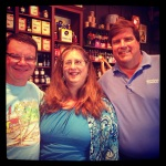 Me with great friends John & Patti at Cracker Barrel in Wichita Falls, TX. July 2013.