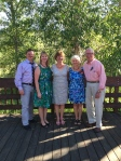 Me, my parents, and my sisters at the wedding reception 6.282014