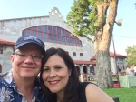 My wife and me in front of the Stockyards Rodeo Arena 7.4.2014.