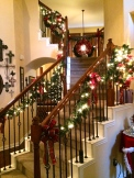 12.24.2014 Our staircase in its holiday splendor.