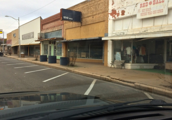Main Street in Vernon, TX 1.10.2015