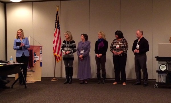Southlake Toastmasters officers installation 1.12.2015