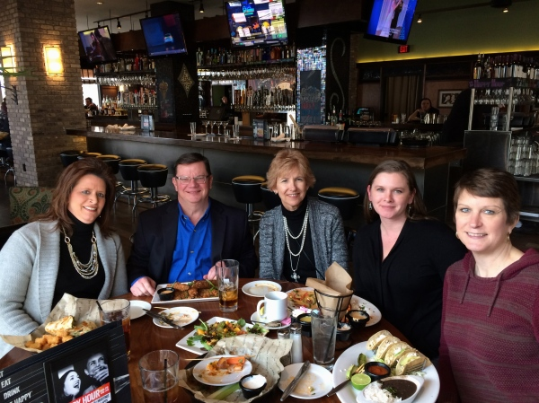 Lunch at Bar Louie with some of my IMA colleagues 1.23.2015