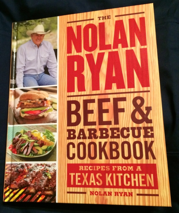 Looking forward to trying some recipes from my new Nolan Ryan Beef & BBQ Cookbook