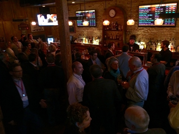 Evening networking event at NRRDA 2015, Chicago House, Austin TX