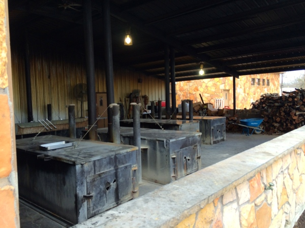 The BBQ pits at Schoepf's BBQ, Belton, TX