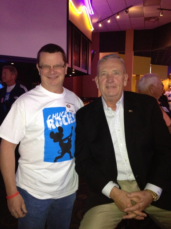 Photo op with General Tommy Franks at Main Event, Grapevine. 11.2012