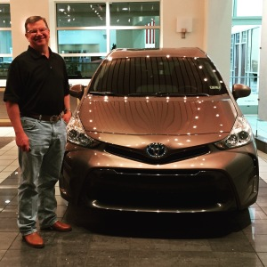 Taking delivery of my 2015 Toyota Prius V, Texas Toyota of Grapevine. 6.19.2015