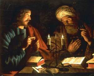 Jesus and Nicodemus. Photo credit: catholicireland.net